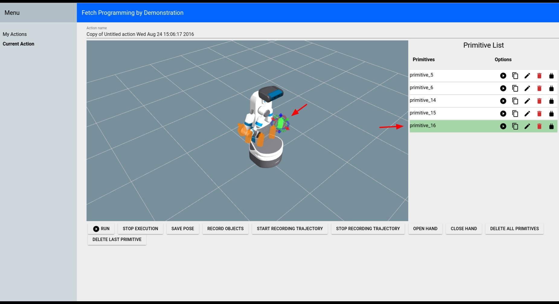 Tutorial: Fetch Programming by Demonstration — Fetch
